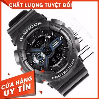 HOT Đồng hồ nam dây nhựa G-SHOCK chính hãng Casio Anh Khuê GA-110-1BDR Chống nước tuyệt đối