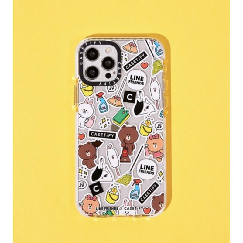 Ốp lưng LINE FRIENDS x CASETiFY hoạ tiết | Spring Clean iPhone case (chính hãng)
