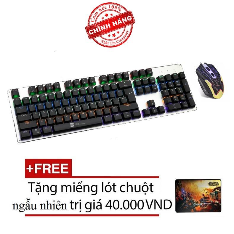 Bộ bàn phím cơ và chuột LED chơi Game R8 G100 - ZERODATE F5 (Đen) + Tặng kèm lót chuột