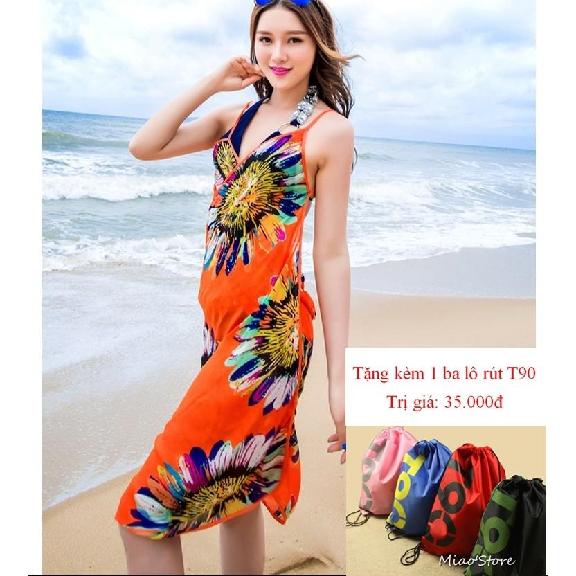 Khăn choàng sarong đi biển tặng kèm 1 balo rút T90 - 2937326 , 207143414 , 322_207143414 , 99000 , Khan-choang-sarong-di-bien-tang-kem-1-balo-rut-T90-322_207143414 , shopee.vn , Khăn choàng sarong đi biển tặng kèm 1 balo rút T90