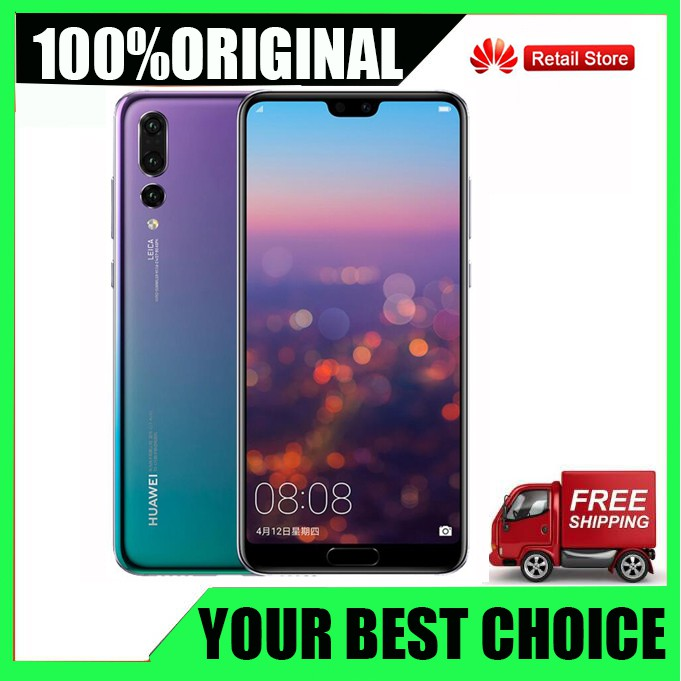 Free Gift HuaWei P20 Pro 4G LTE Cell Phone Kirin 970 Android