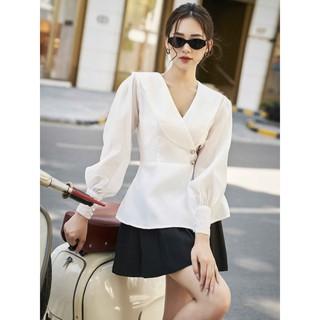 RECHIC Chân Váy Joly Màu Đen quần xếp ly dễ phối xinh xắn dễ thương dạo phố thumbnail