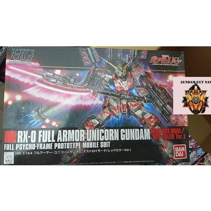 Mô hình đồ chơi gundam RX-0 FULL AMOR UNICORN GUNDAM (Detroy mode/red color ver)