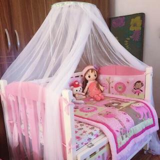 Combo màn giá treo màn và đồ chơi treo cũi xúc xắc cho bé( tặng kèm vòng dâu tằm cho bé)