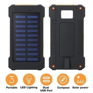 sạc dự phòng 50000mAh Power Bank Sạc năng lượng mặt trời không thấm nước với đèn pin USB kép