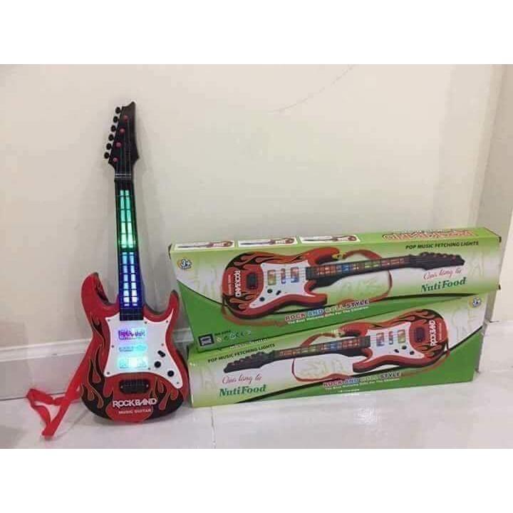Đàn ghi ta có nhạc và đèn quà tặng cho bé yêu
