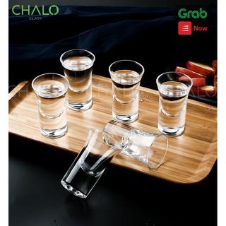 Chén uống rượu thủy tinh Deli 30ml - Ly short rượu 3001  (Bộ 06 ly)
