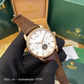 Đồng hồ nam Rolex máy cơ automatic mặt tròn classic dây da sang trọng có bảo hành DH559 - Shop306 thumbnail