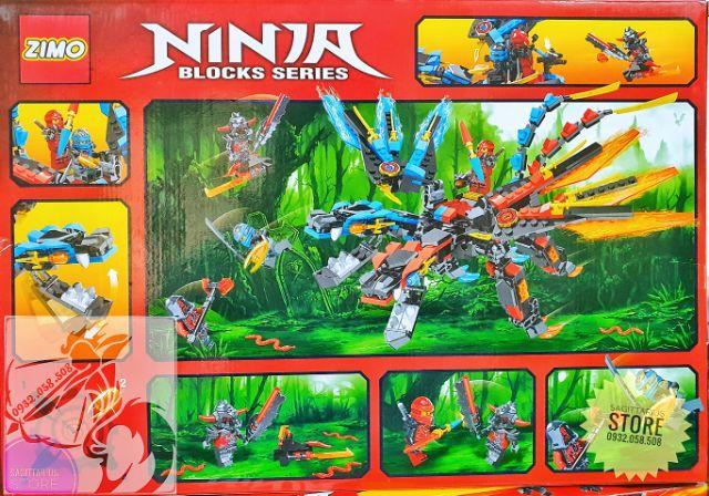 Lego Zimo Lắp Ráp Robot Ninja Rồng 2 Đầu ( 430 Mảnh )