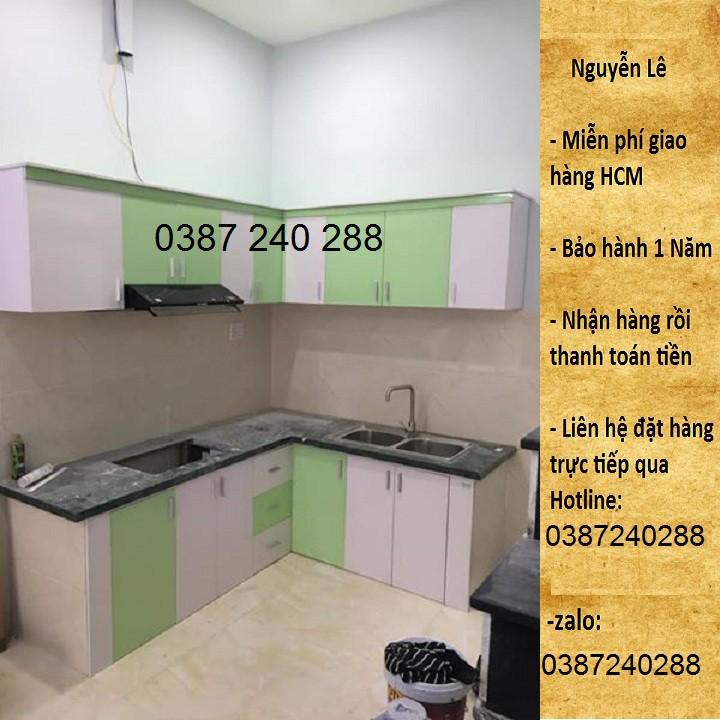 tủ bếp nhựa đài loan ( giá tính theo mét )