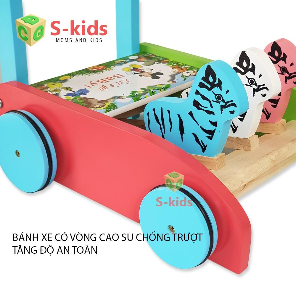 [Mã TOYOCT hoàn 20K xu đơn 50K] Đồ Chơi Gỗ S-Kids, Xe tập đi bằng gỗ cho bé.