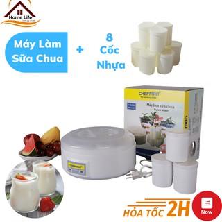 Máy Làm Sữa Chua Chefman CM-302N 8 Cốc Nhựa - Máy Làm Sữa Chua Tại Nhà An Toàn Vệ Sinh