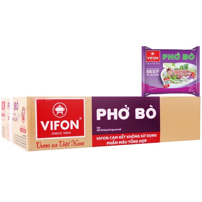 Thùng 30 gói phở bò Vifon 65g