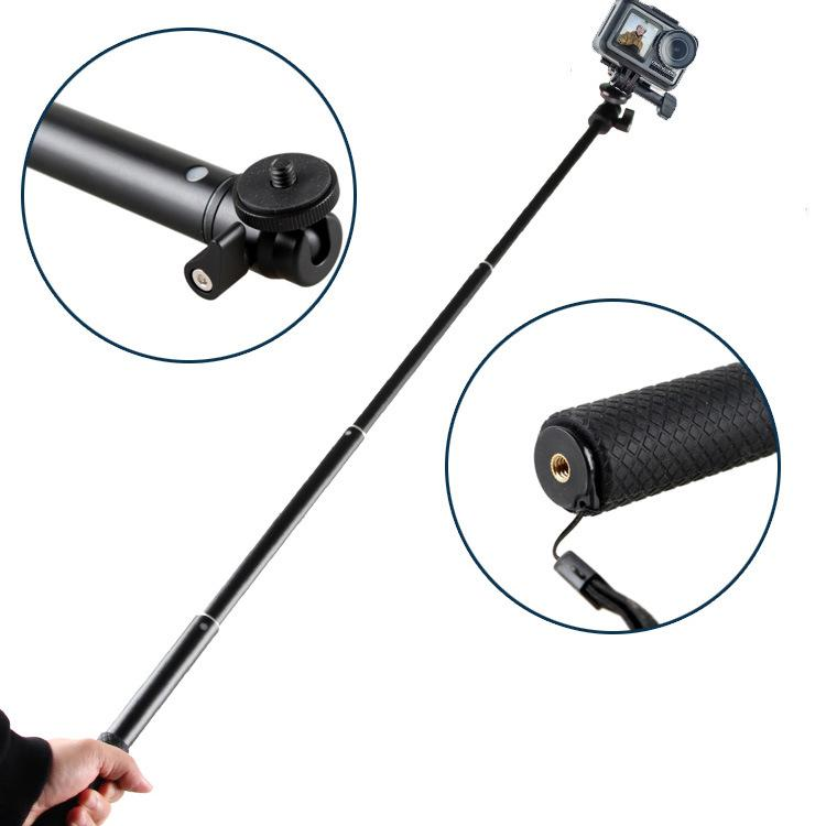 【High Quality】OSMO Action Camera Accessories Metal Tripod 93cm Extension Rod Expansion Bar 1/4 Inch