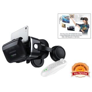 ✾Kính thực tế ảo VR 3D loại xịn SHINECON có tai nghe âm thanh hình ảnh sống động AG04