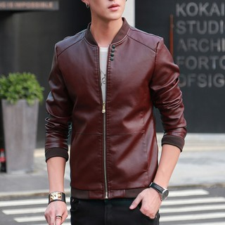 Ready Stock Macheda 2019 New Windbreakers Motorcycle Mens Leather And High Quality Man Fashion Leather Man'S 1194 Jackets Party Clothing