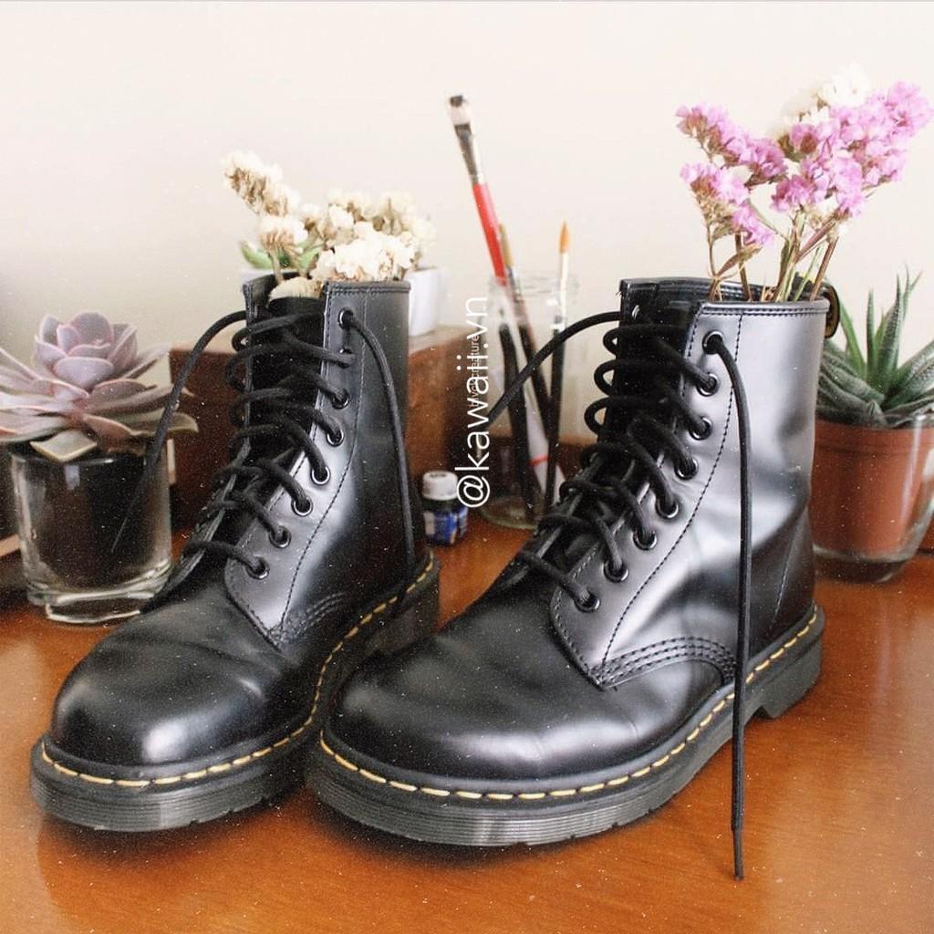Giày ORIGIN BOOTS cổ cao chất da lì cao cấp đế 3,5cm (Ảnh thật shop tự chụp)