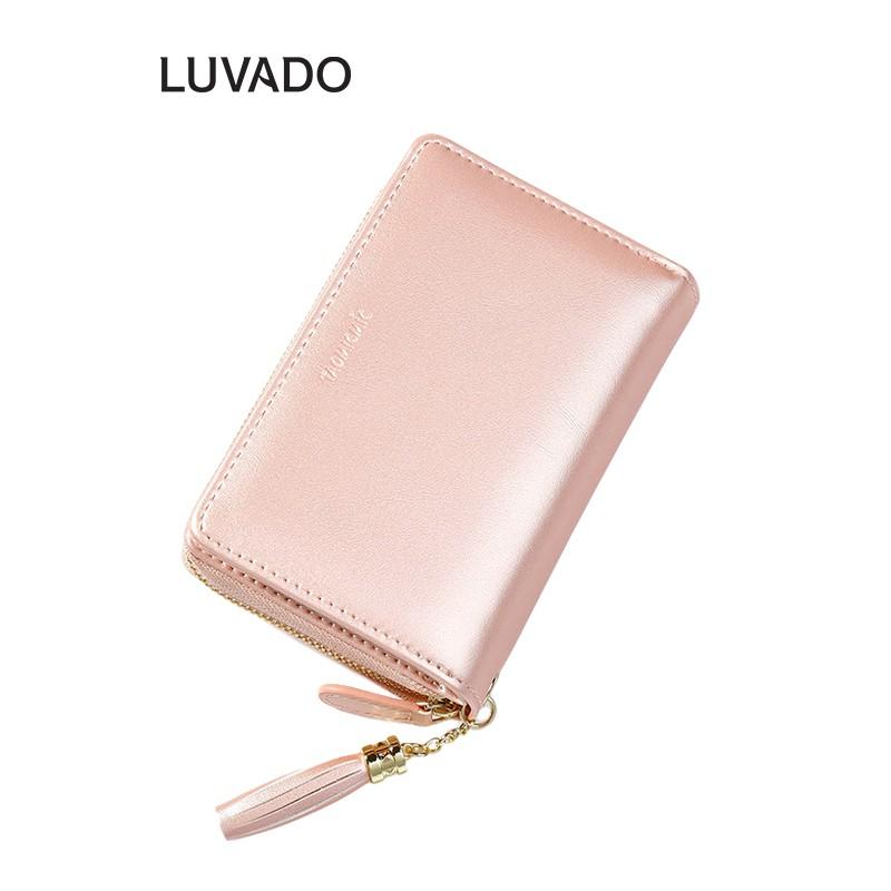 Ví nữ cầm tay mini TAOMICMIC ngắn nhỏ gọn bỏ túi nhiều ngăn thời trang cao cấp LUVADO VD381