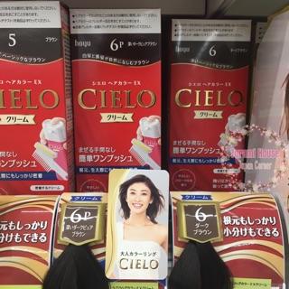 Thuốc nhuộm tóc phủ bạc CIELO Nhật Bản (kèm bill mua hàng)