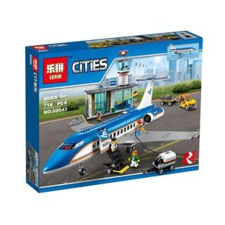Lego City Urban 02043 xếp hình máy bay chở khách cỡ lớn