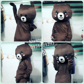 Mascot Gấu Brown hoạt náo sự kiện, bán kẹo, phố đi bộ