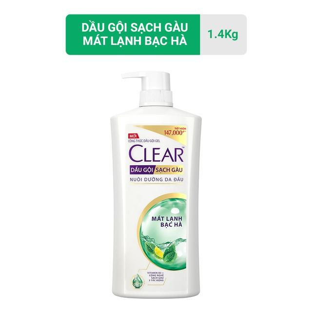 Dầu gội sạch gàu Clear mát lạnh bạc hà