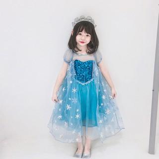 Đầm Elsa dài Váy đầm công chúa Elsa