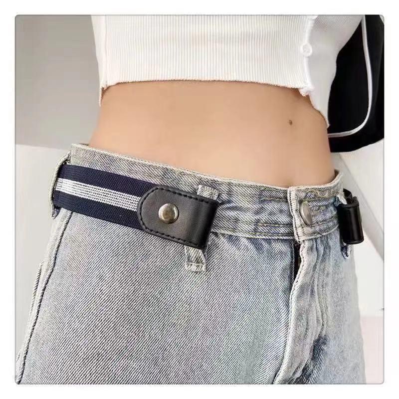 Thắt lưng lười dây chun có nút gài, nút cài bấm, khuy cài bấm điều chỉnh lưng quần Jean, quần bò cạp rộng -shopbelinh
