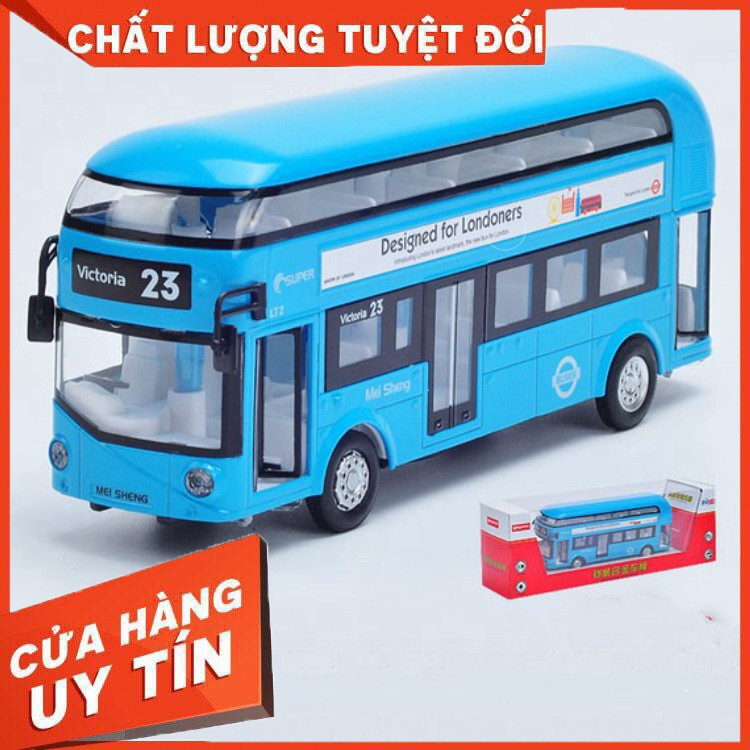 Y NHƯ THẬT- Trò chơi xe buýt bằng sắt MỞ CỬA siêu bền hàng cao cấp có pin phát nhạc...