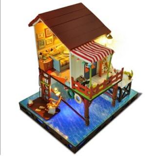 Mô hình nhà gỗ DIY (tự lắp ráp) Summer sunset sky biệt thự trên biển