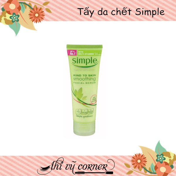 Tẩy Da Chết Simple Kind To Skin Smoothing Facial Scrub (75ml)