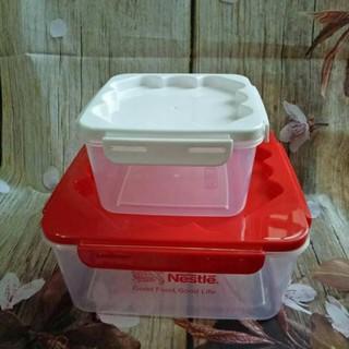 Bộ 2 hộp nhựa Nestle vuông