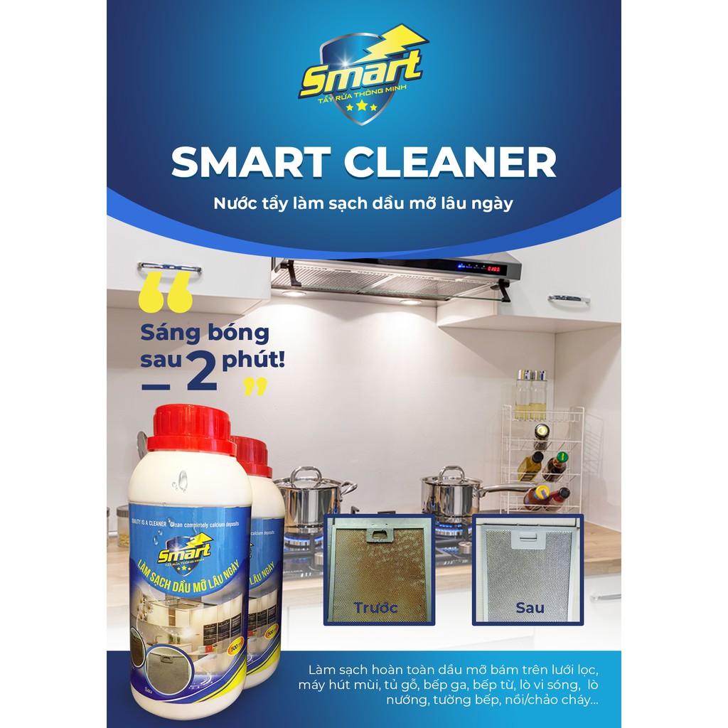Chất tẩy rửa dầu mỡ Smart CLEANER Giá 165k Lọ 500ml | Shopee Việt Nam