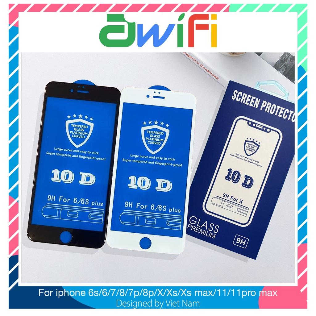 Kính cường lực iphone 10D Full màn 6/6s/6plus/6s plus/7/8/7plus/8plus/x/xs/xs max/11/11pro max - Awifi Case M2- 4