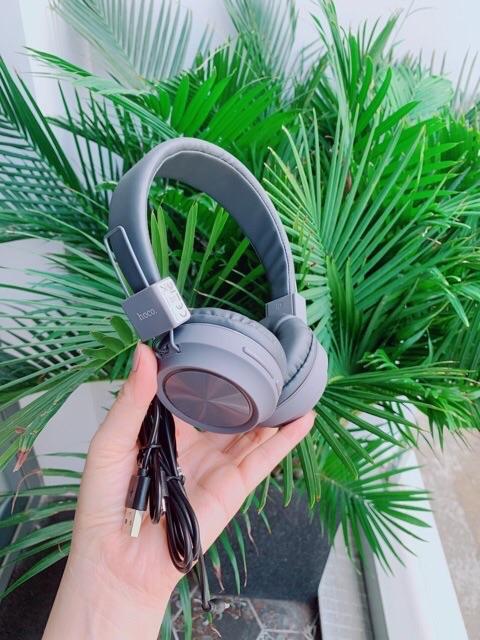 ✅CHÍNH HÃNG✅Tai nghe nhạc-Chơi Game chụp tai Bluetooth không dây HOCO W25-Có khe gắn thẻ nhớ-Headphone bluetooth-Có mic