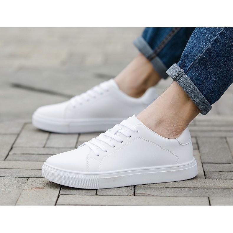 Giày nam thể thao mã TJC46 trắng cao cấp - khuyến mãi 50%