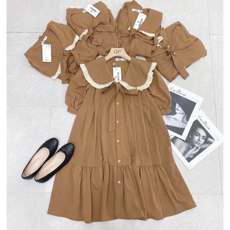 Mặc gì đẹp: Dễ chịu với [HÀNG MỚI VỀ] Váy bầu mùa hè hoa lá siêu xinh - Đầm bầu dự tiệc chất mát thiết kế