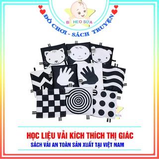 Học liệu kích thích thị giác trẻ em đen trắng