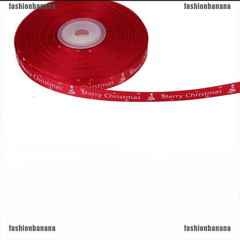 {fashionbanana}25 yards/Lot Christmas Ribbon For Decor Printing Ribbon DIY Craft Gifts Xmas JELLY