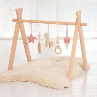 Kệ chữ A đồ chơi bằng gỗ thông an toàn cho bé Rainbow H45 thumbnail