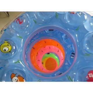 💖FREESHIP💖 Phao Bơi Tròn Cho Bé Đường Kính 60,70cm (LOẠI DÀY 0.18mm) (Giao màu ngẫu nhiên)