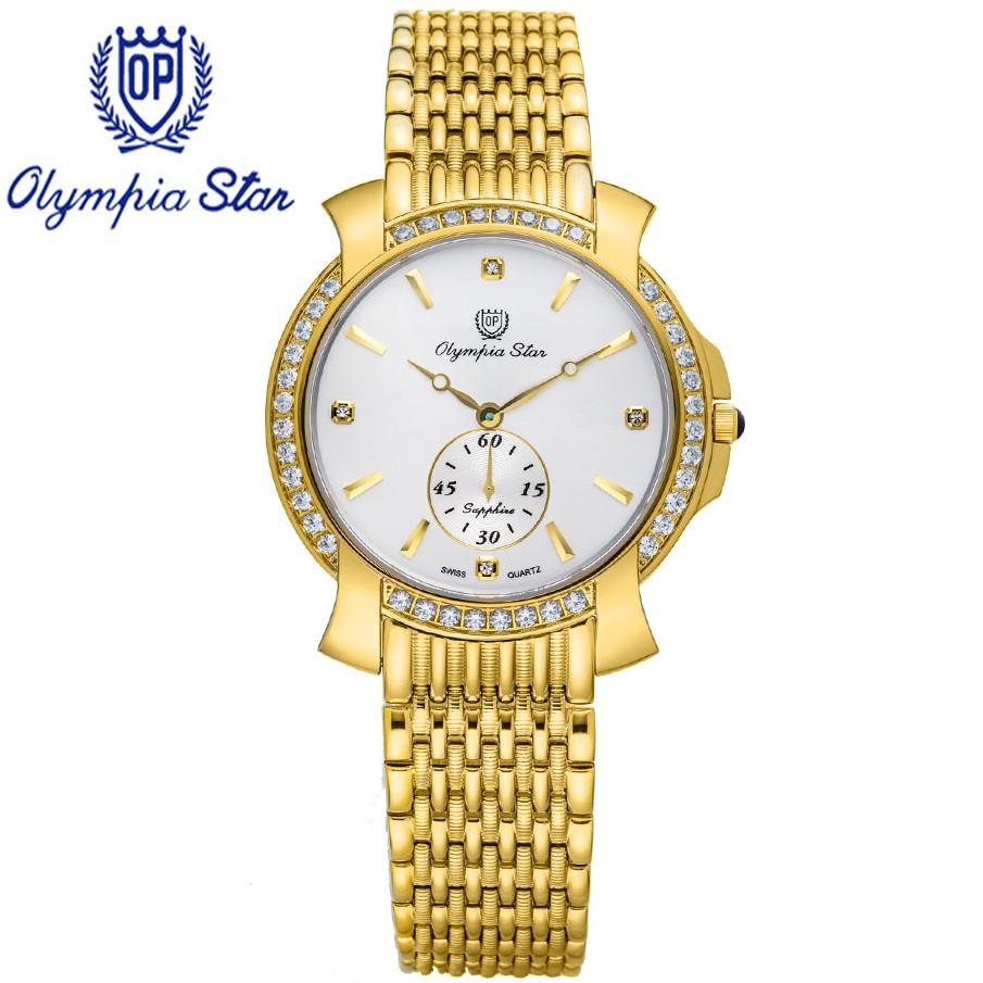 Đồng hồ nam dây kim loại mặt kính sapphire chống xước Olympia Star OPA58045DMK-T