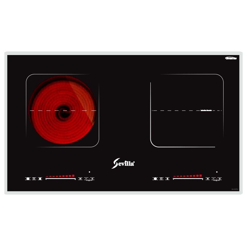 Bếp từ đôi Sevilla SV-237IC Bếp điện từ hồng ngoại, Bếp hồng ngoại Inverter, Bo viền kim loại sang trọng, BH chính hãng