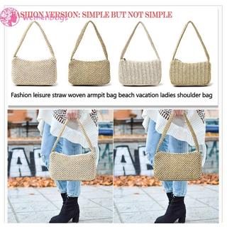 READYWB❀Woven Straw Shoulder Bag Fashion Small Underarm Beach Women Summer Handbags