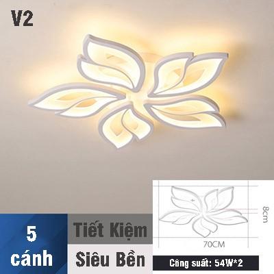 Đèn Ốp Trần Trang Trí - Đèn Trần Phòng Khách - Đèn Ốp Trần 3 Chế Độ Sáng Có Điều Khiển Từ Xa