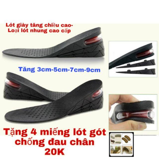 Lót giày tăng chiều cao có đệm khí cả bàn ( LOẠI CAO CẤP ) + TẶNG QUÀ
