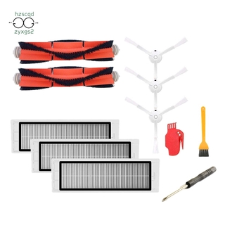 Replacement Accessories For Xiaomi Mijia/Roborock Robot Vacuum Cleaner Pack Of 3 Hepa Filters,2 Main Brushes,1 Cleaning Tool,3 Side Brushes