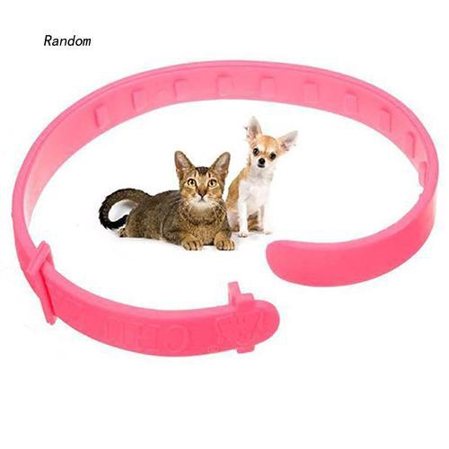 [RA]Adjustable Pet Cat Dog Collar Protection Neck Ring Flea Tick Mite Louse Remedy
