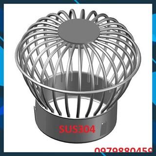Quả chắn rác inox304 3ly ống 60-76-90-114-168, cầu sân thượng, quả cầu thoát nước, quả cầu nước mưa, bảo hành 05 năm thumbnail