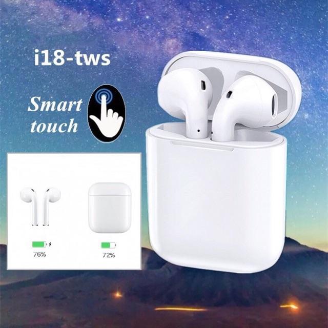 Tai nghe bluetooth i18 với tai nghe không dây có đốc sạc giá thành tai nghe giá rẻ lựa chọn mua tai nghe tws hợp lý